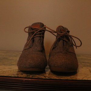 Toms Lace Up Ankle Booties